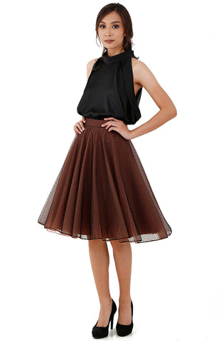 Layered Skirt-Brown