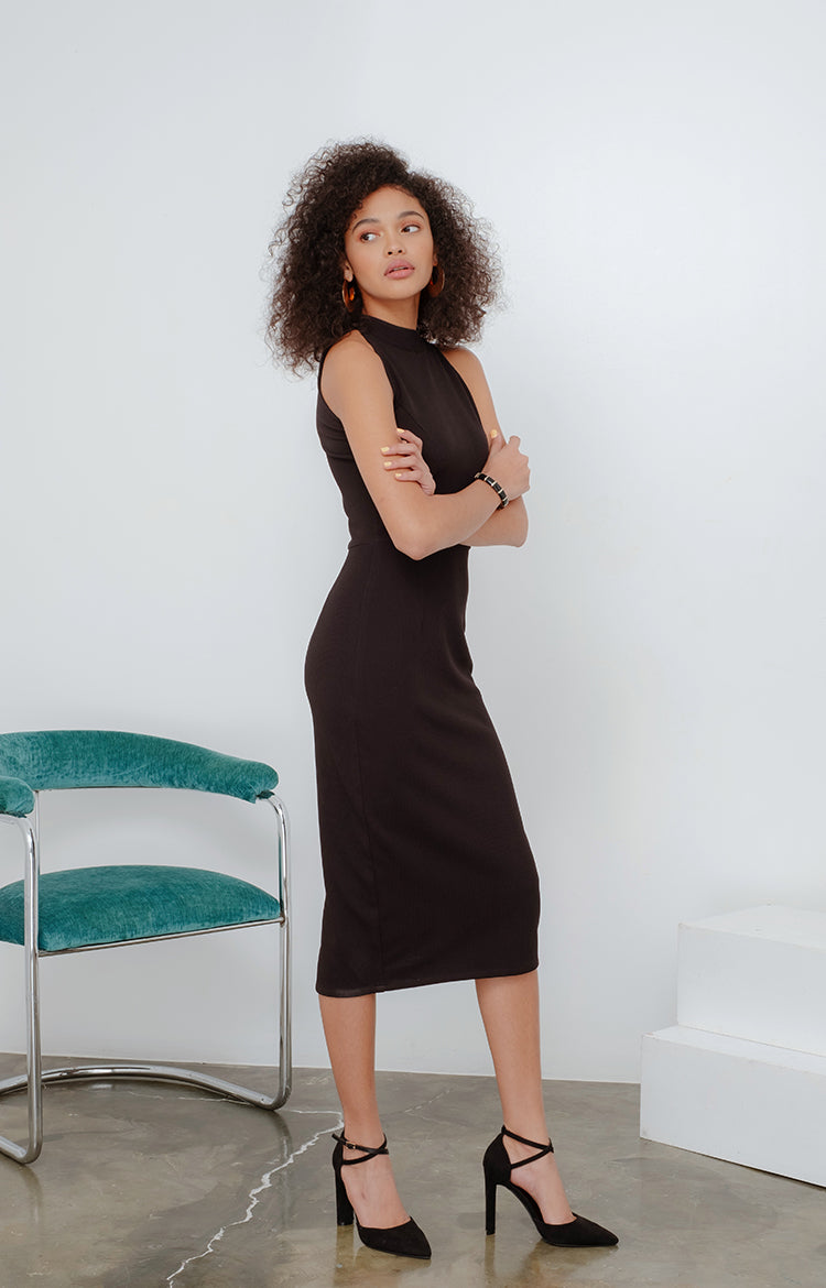 JMK Bodycon Dress in Black
