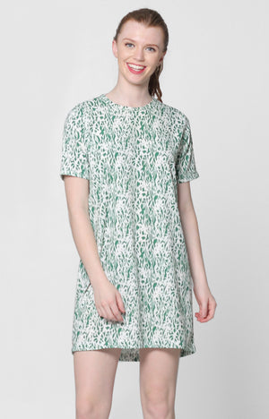 Erika Dress- Green Printed