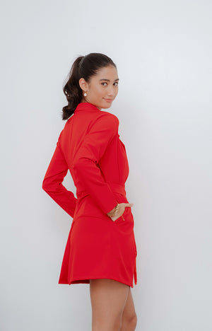 JMK Tasseled Blazer in Red