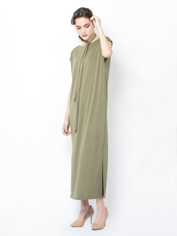Lena Maxi Dress in Olive Green