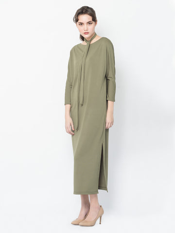 Gema Maxi Dress in Olive Green