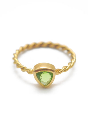 Panopio Stackable Ring - Peridot Trillion