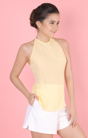 Backless Top-Yellow
