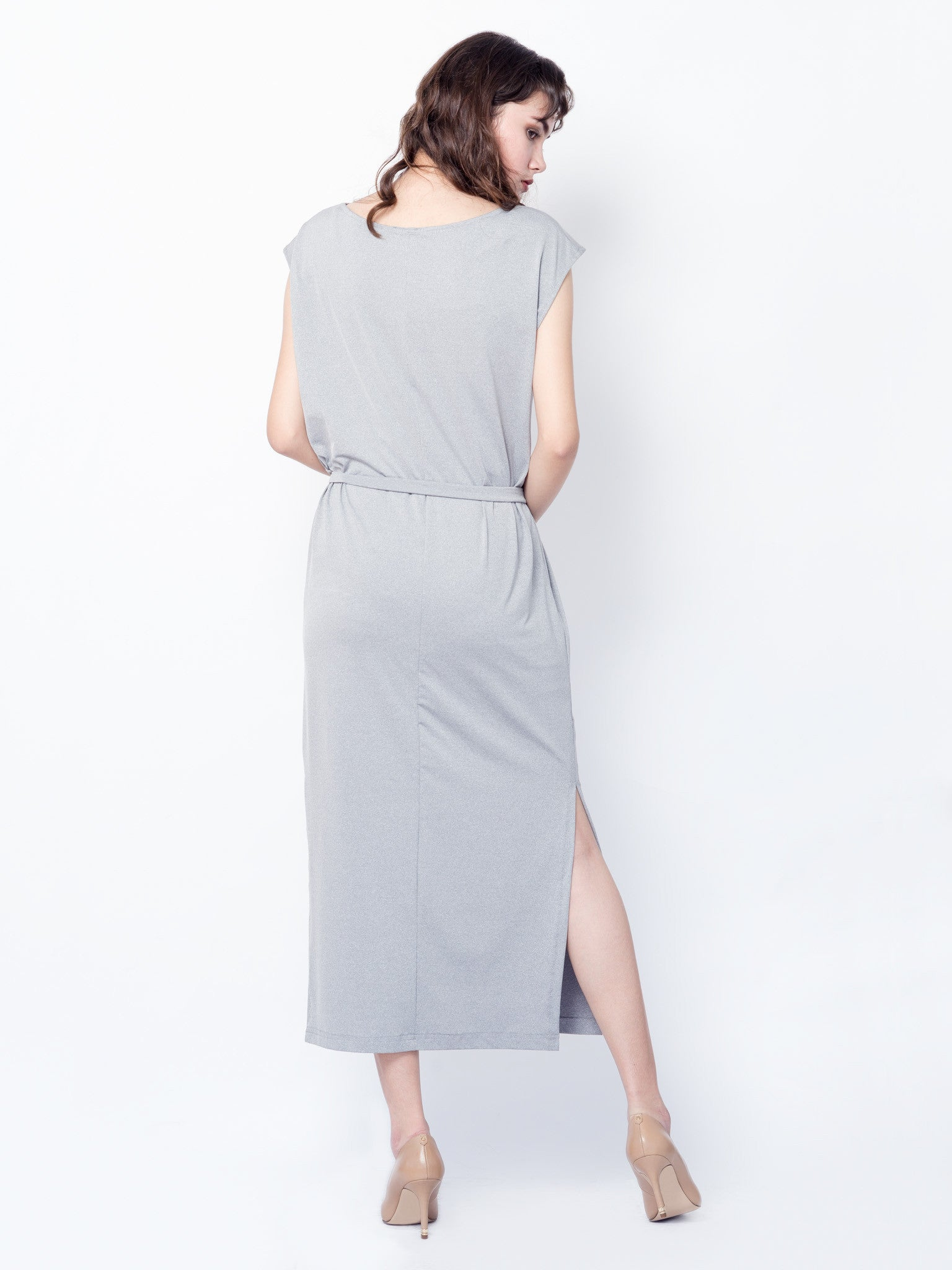 Lena Maxi Dress in Grey