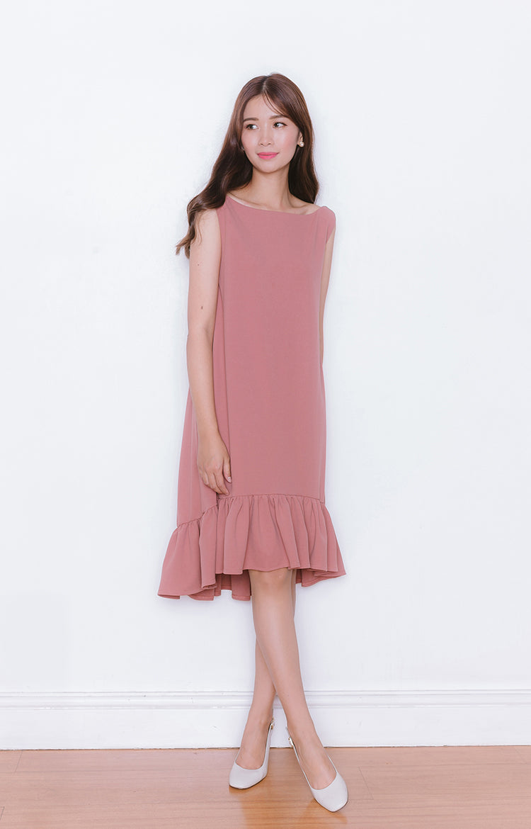 Haru Dress in Old Rose
