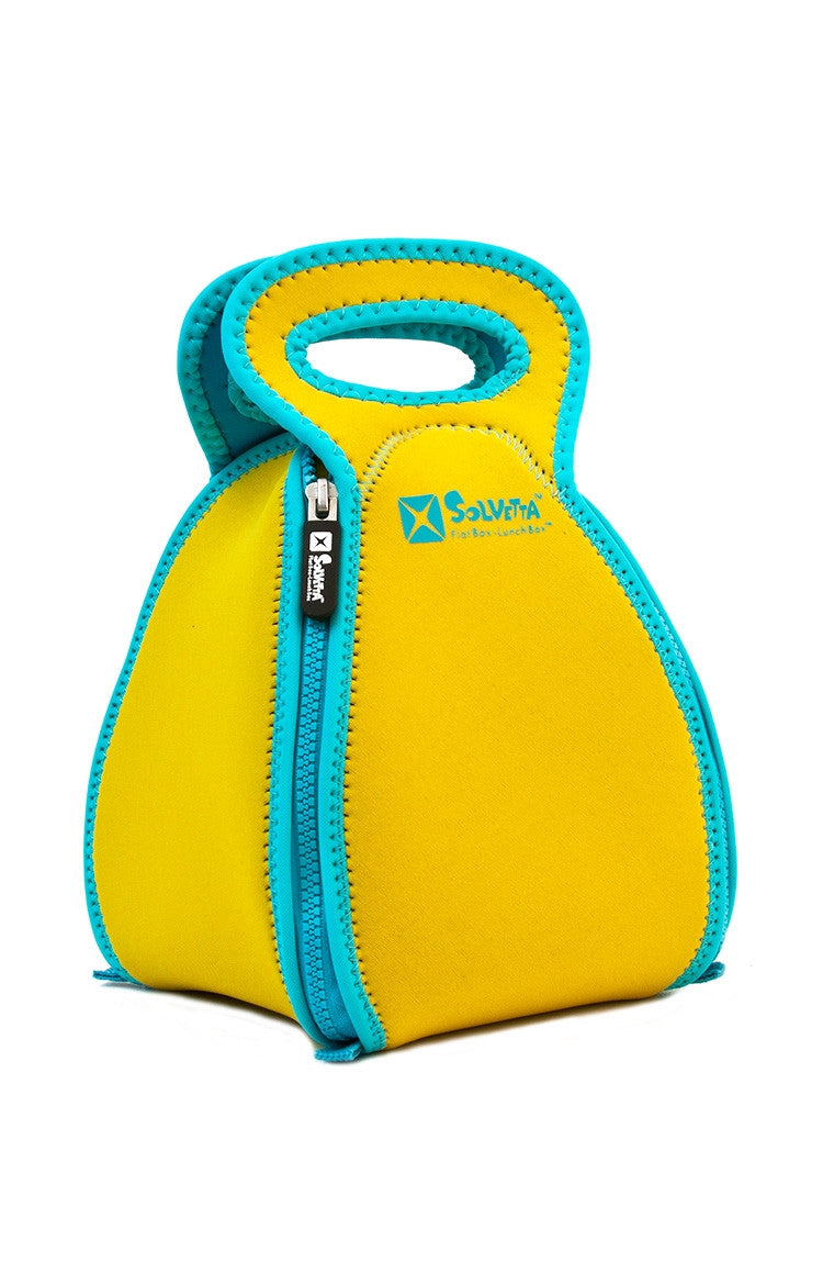 Flatbox Lunchbox in Yellow & Light Blue