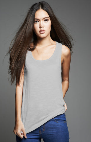 Gray Loose Tank Top