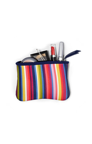 The Bryant Park Collection - Zip Cosmetic Pouches (Set of 3) - Dot & Stripe No. 9