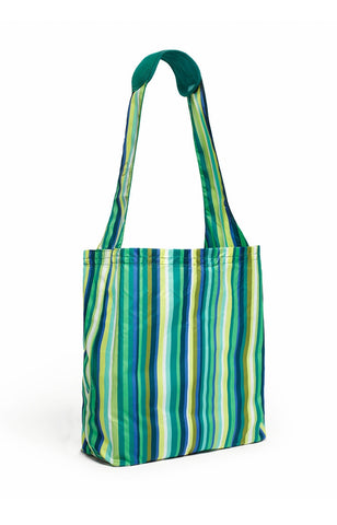 Comfy Reusable Shopping Tote - Emerald Stripe