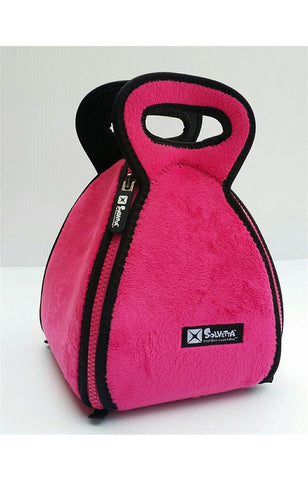 Flatbox Lunchbox in Pink Fleece and Black