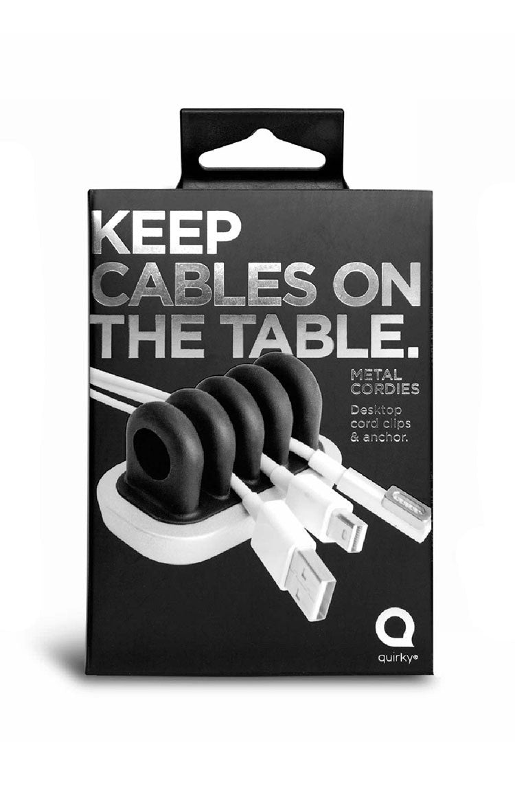 Quirky Keep Cables on the Table Black