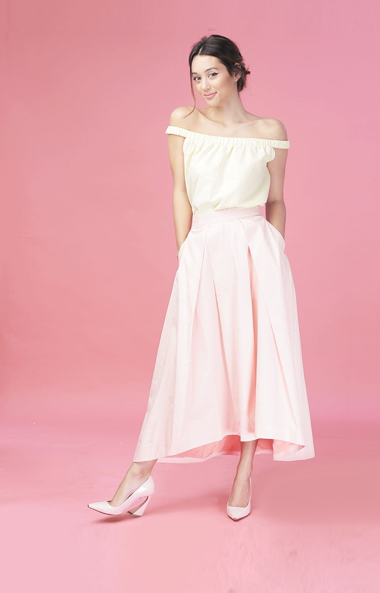 Waterfall Skirt-Blush