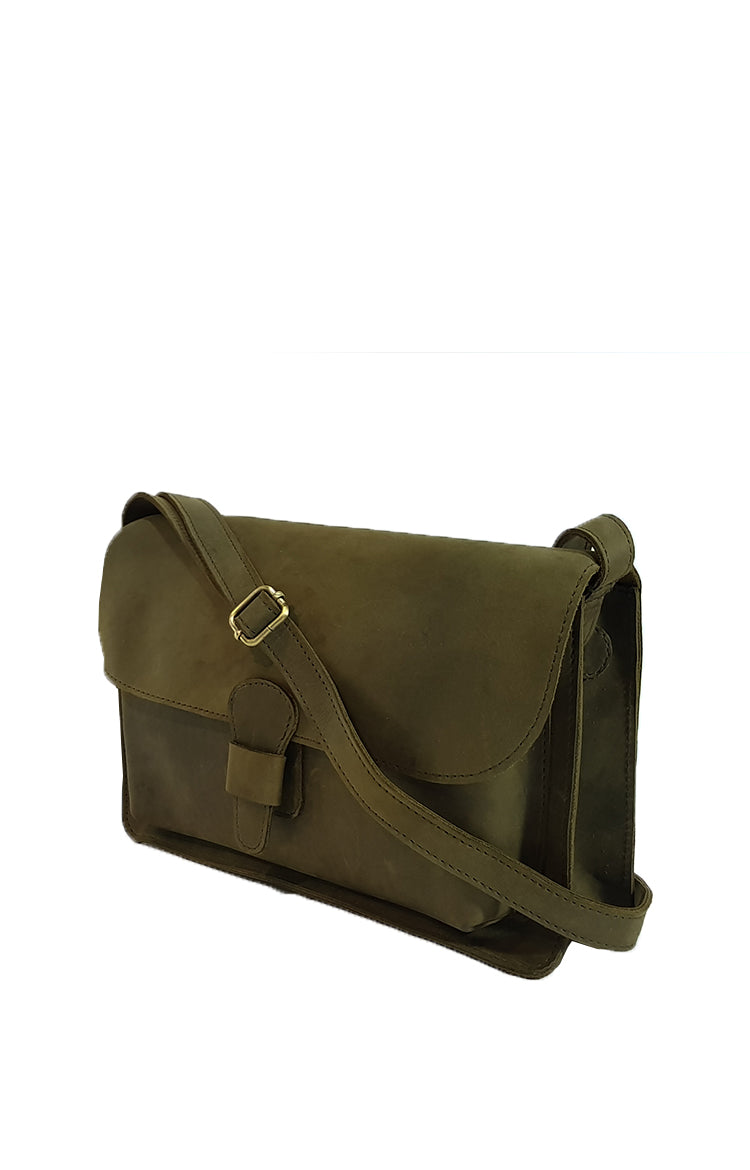Pelle Sling Bag in Moss Green