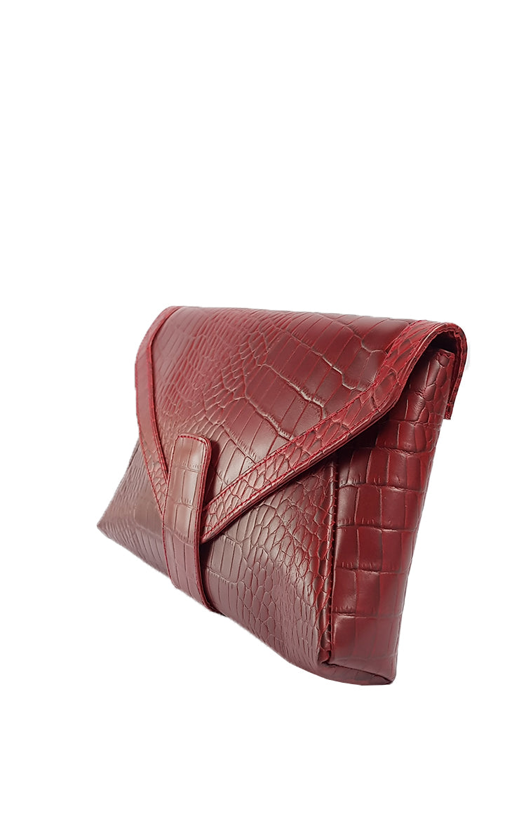 Pelle Clutch in Red