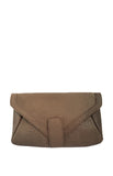 Pelle Clutch in Matte Brown