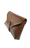 Pelle Clutch in Brown
