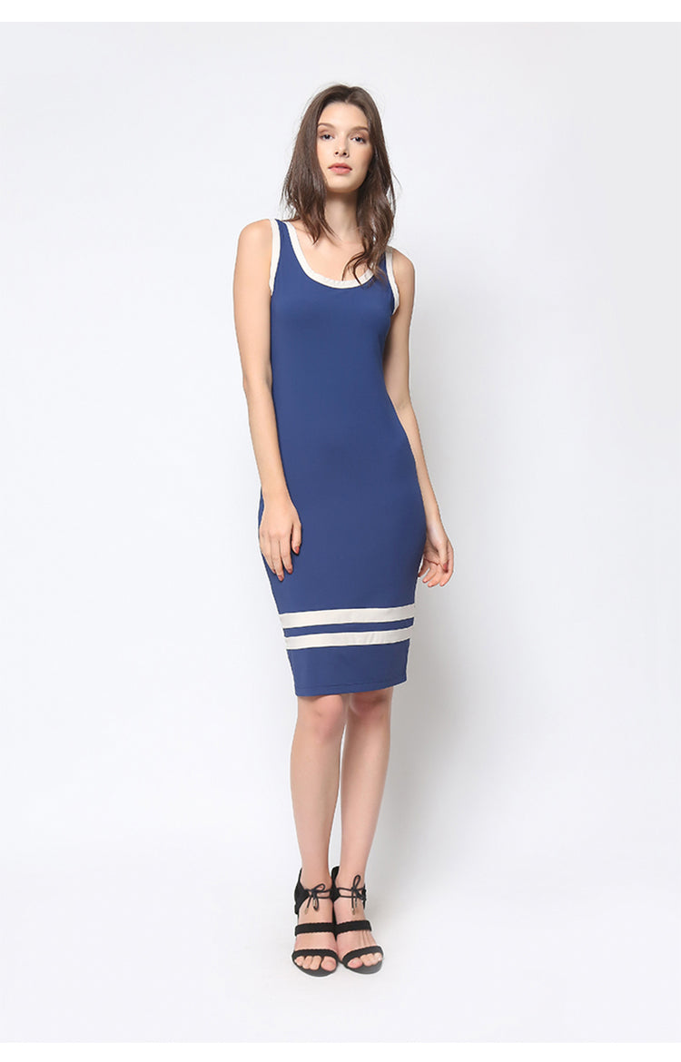 Joe Tank Dress Navy Blue