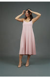 Spaghetti Strap Midi Dress (Pink)