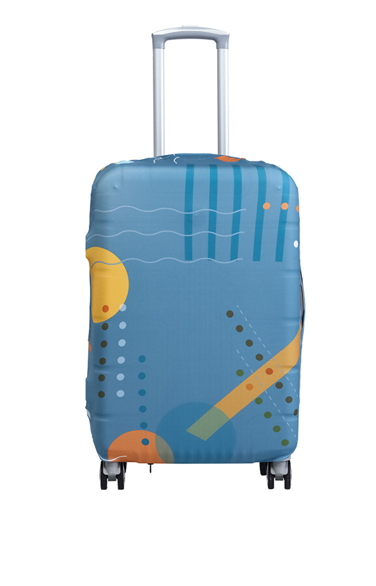 Wanderskye Sea of Shapes Luggage Cover