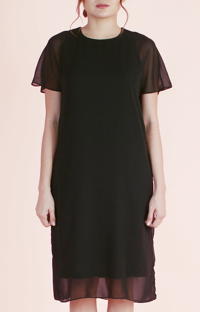 Overlay Dress Chloe-Black
