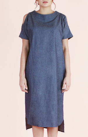 Zip Chambray Dress Kira