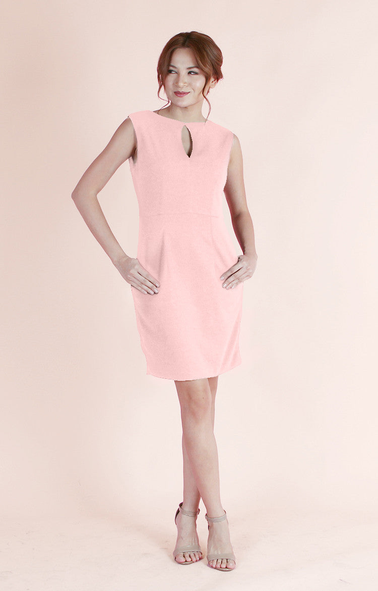 Keyhole Dress Mia-Blush