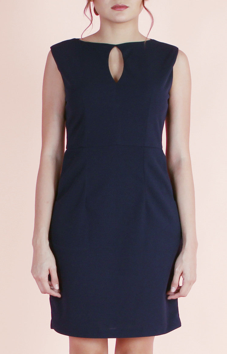 Keyhole Dress Mia-Midnight