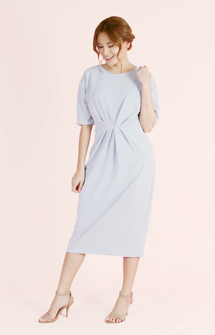 Pleated Waist Dress Olivia-Grey