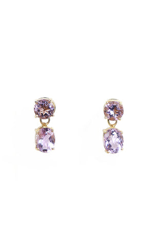 Round & Oval Amethyst Separates Earrings