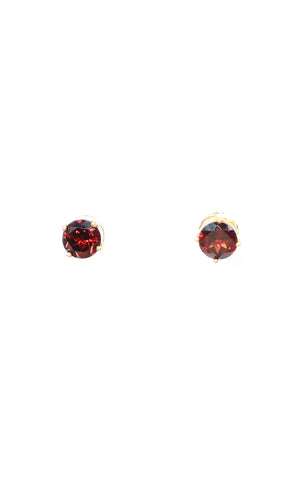 Round & Oval Garnet Separates Earrings