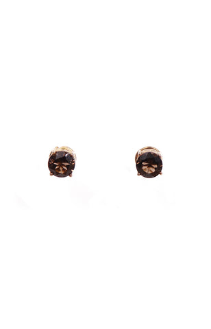 Round & Oval Smoky Quartz Separates Earrings