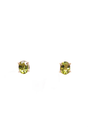 Oval Peridot & Blue Topaz Separates Earrings