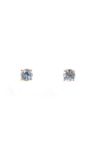 Round Blue Topaz & Oval Lemon Quartz Separates Earrings