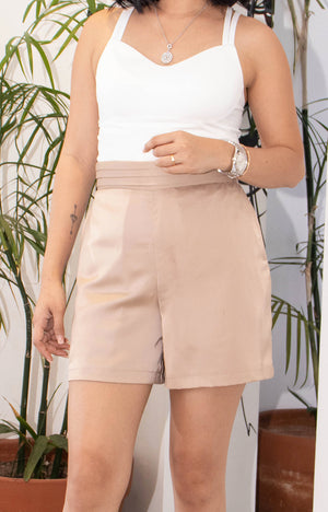 George Shorts in  Beige