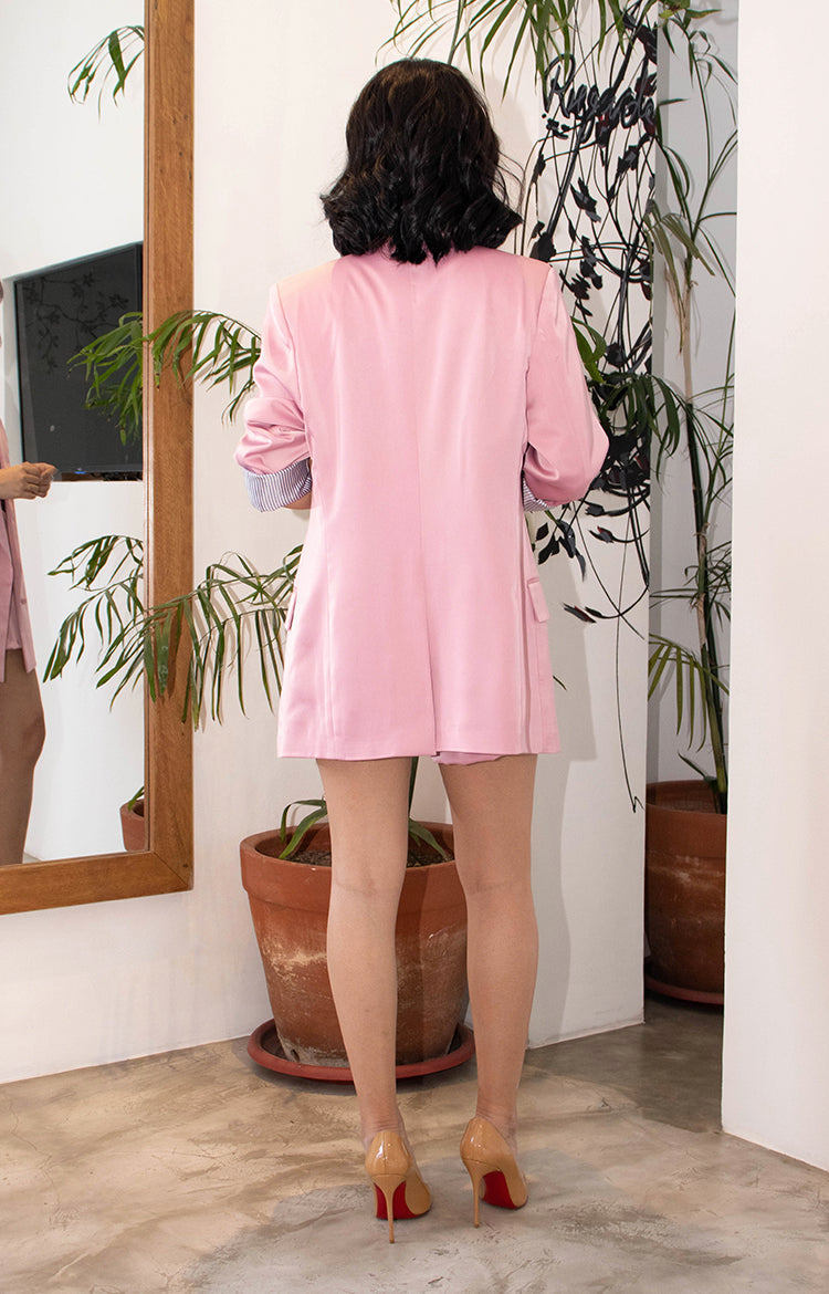 George Blazer and Shorts Set in  Pink