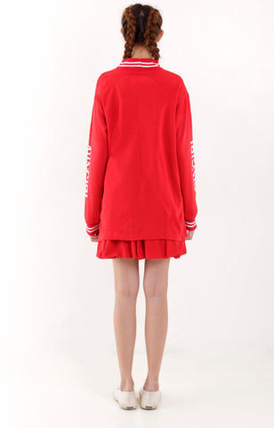 Arin Girl Sweater Dress -Red