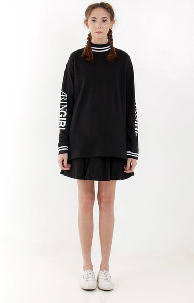 Arin Girl Sweater Dress -Black