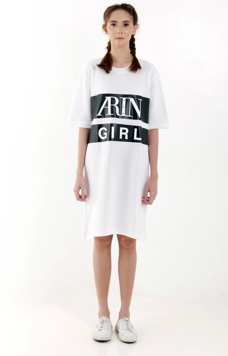 Arin Girl Tee Dress -White