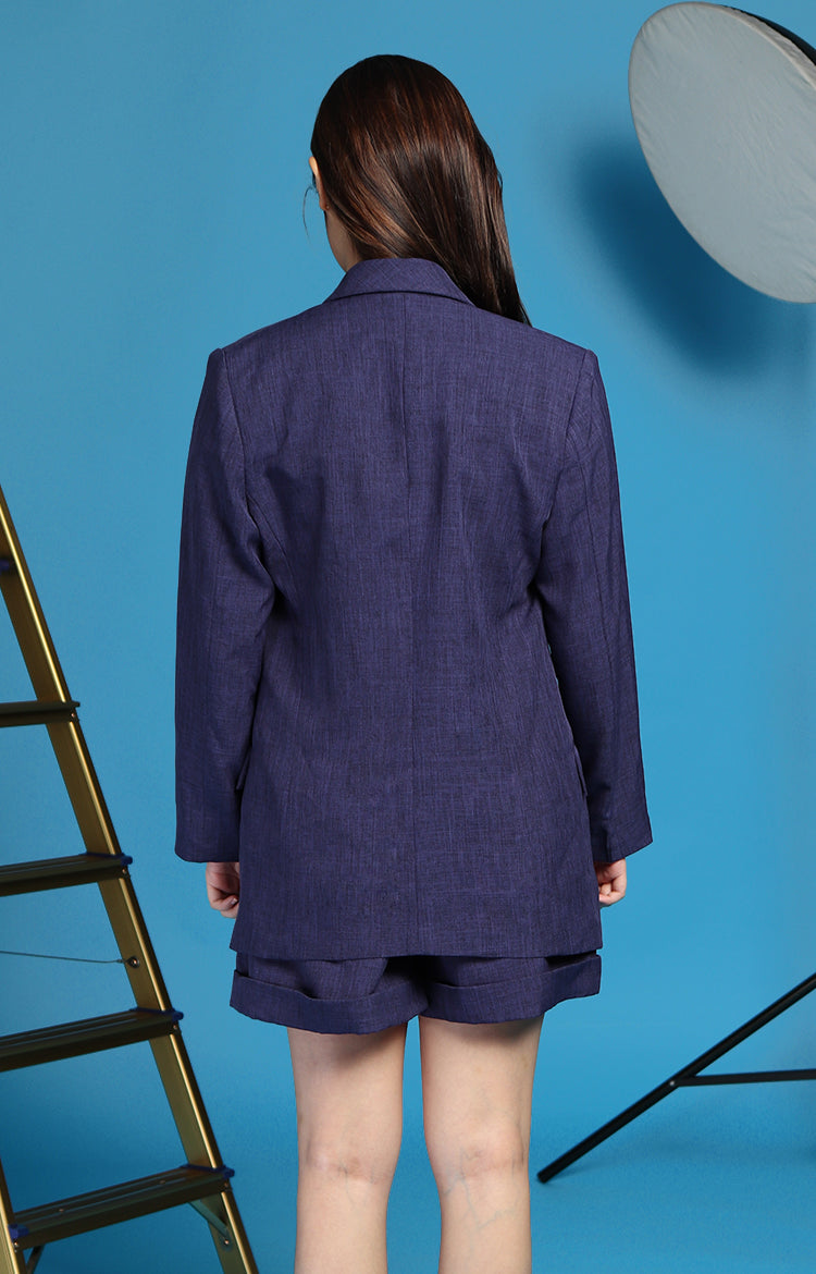Bea Marin Blazer and Shorts Set in Navy