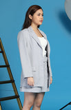Bea Marin Blazer and Shorts Set in Grey