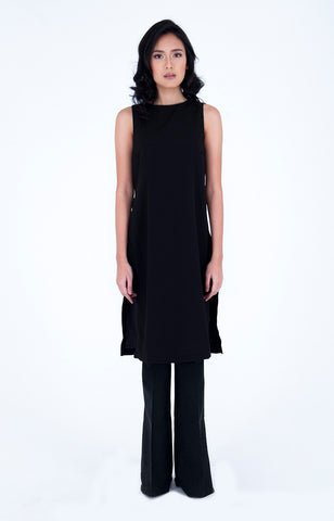Bengt Enrique  Kiruna Crepe Tunic in Black