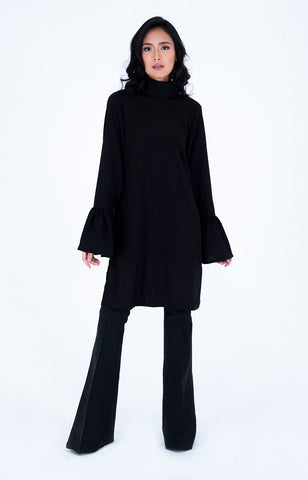 Lulea Crepe Tunic in Black