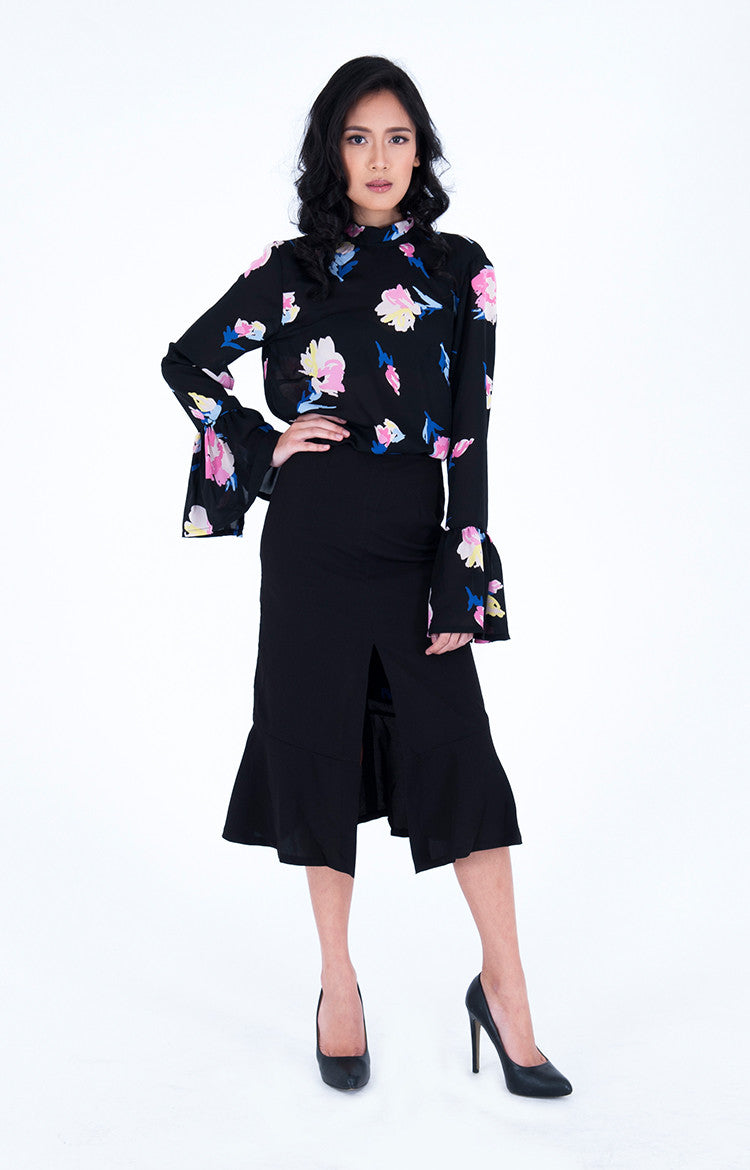 Bengt Enrique Uppsala Crepe Skirt in Black