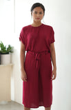 Nyon Culottes Pants in Garnet Red