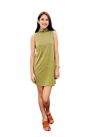 a3ef43c695a Cowl Neck Dress in Green ...