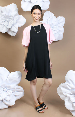 Alexa Two-Tone Dress -Pink & Black