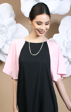 Alexa Two-Tone Dress - Pink & Black