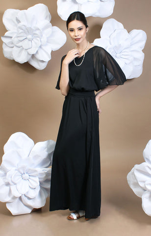 Sophia Maxi Dress -Black