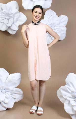 Thyia Shirt Dress -Pink